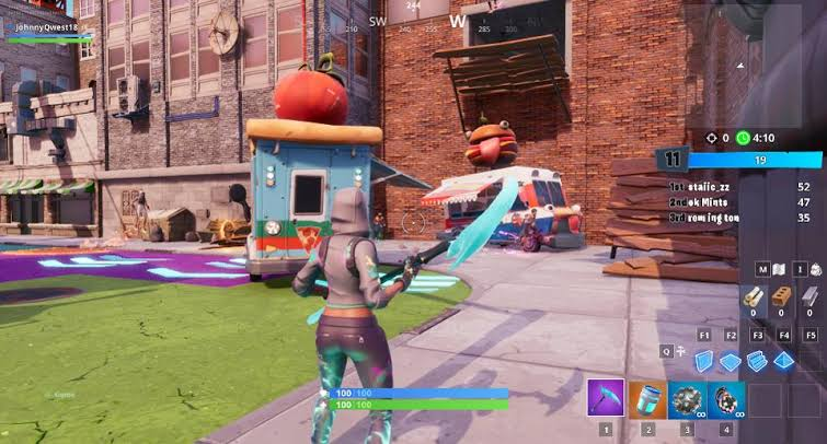 Fortnite: Dance or Emote Between Two Food Trucks ...