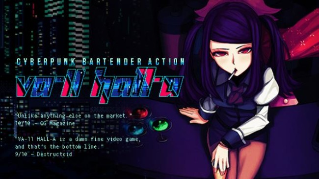 VA-11 HALL-A: Cyberpunk Bartender Action PC Version Game Free Download