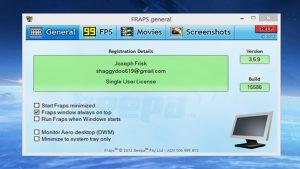 FRAPS Game Full Version Free Download